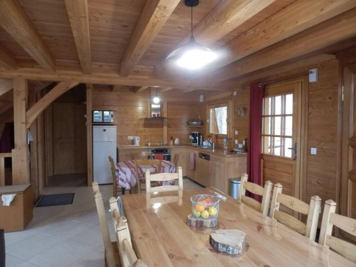Location de vacances - Chalet à Saint-Jean-Saint-Nicolas - Salle à manger