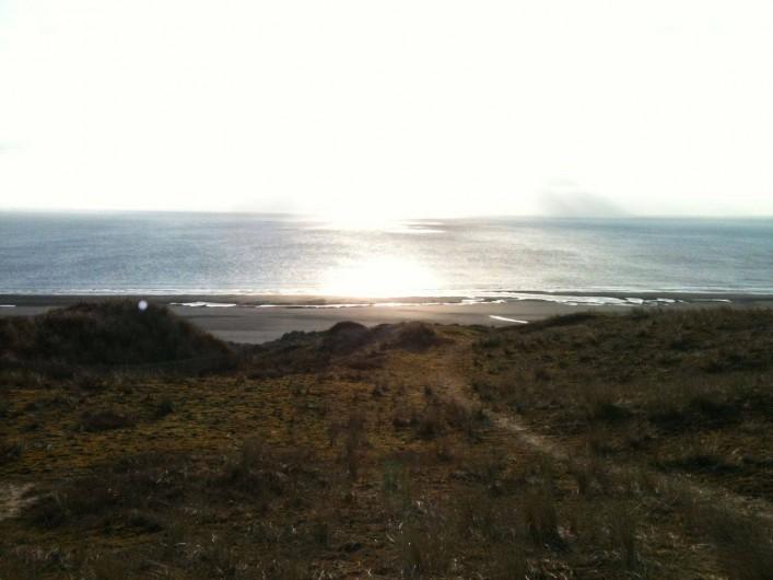 Location de vacances - Gîte à Barneville-Carteret - Vue mer depuis les dunes