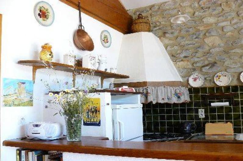 Location de vacances - Gîte à Saint-Jean-de-Serres - Cuisine-bar
