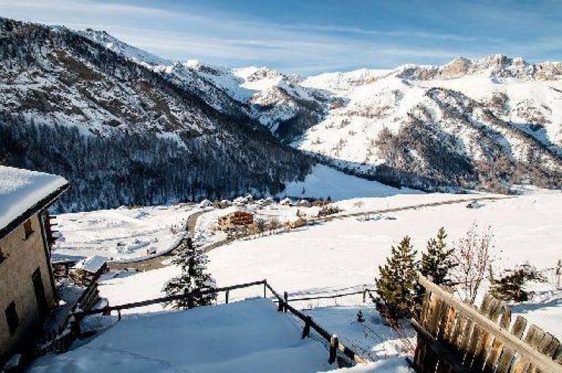 Location de vacances - Chalet à Saint-Véran - La vue en hiver