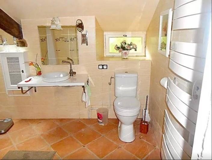 Location de vacances - Maison - Villa à Concoret - Toilettes rehaussées, assise bébé intégrée.