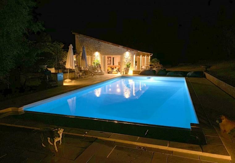 Location de vacances - Mas à Simeyrols - Piscine/Spa chauffés +abri plat sécurise le bassin & assure 30°C pdt 7mois