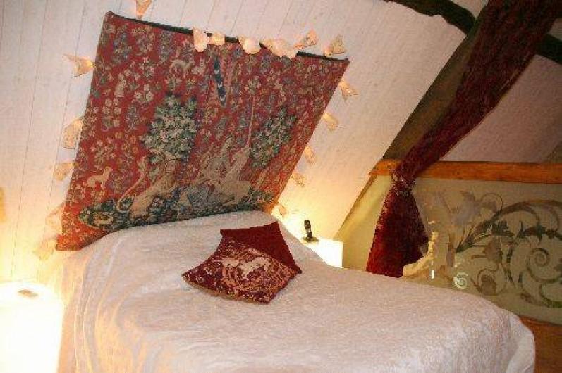 Location de vacances - Mas à Simeyrols - Chambre double climatisée en mezzanine + 1 lit simple