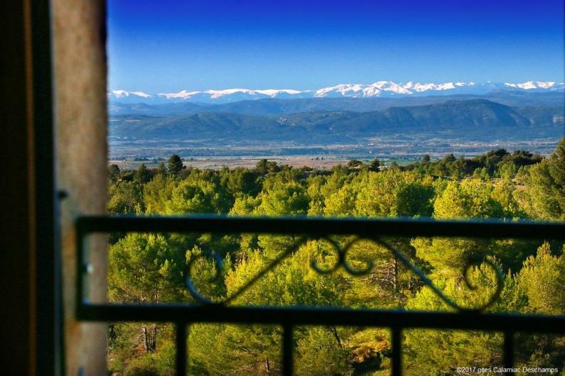 Location de vacances - Gîte à La Livinière - Vue de la chambre 1 Les Pins