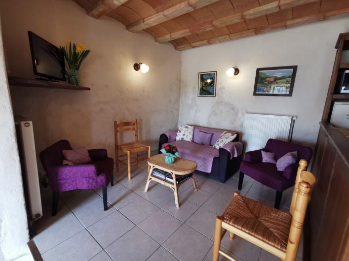 Location de vacances - Gîte à La Livinière - salon Les Pins