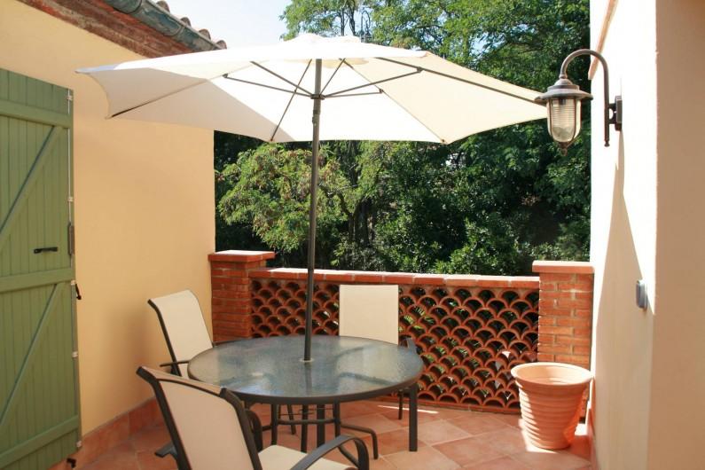 Location de vacances - Appartement à Collioure - terrasse avec barbecue électrique
