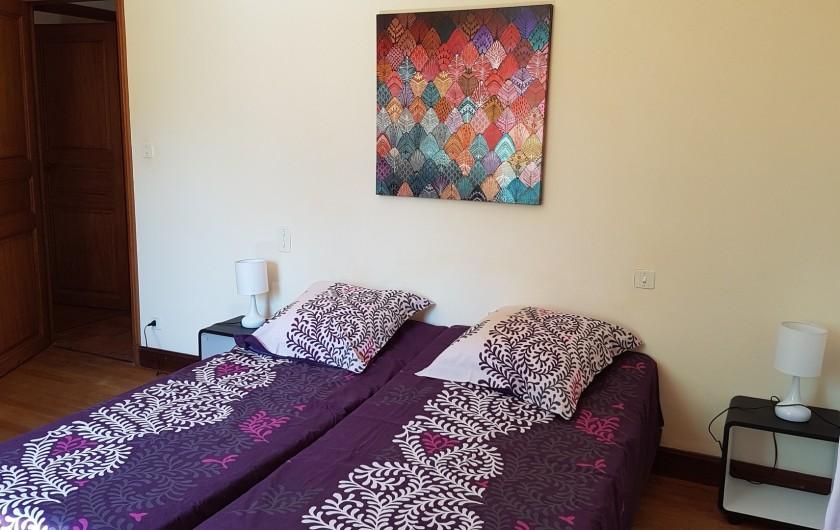 Location de vacances - Villa à Marsolan - Chambre 4 (lits simples)