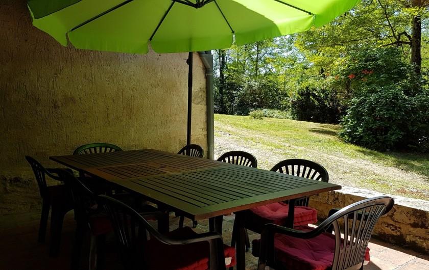 Location de vacances - Villa à Marsolan - La terrasse jouxtant la cuisine