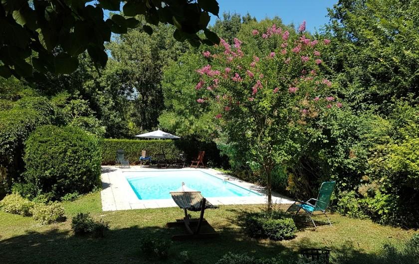 Location de vacances - Villa à Marsolan - La piscine, vue depuis la cuisine