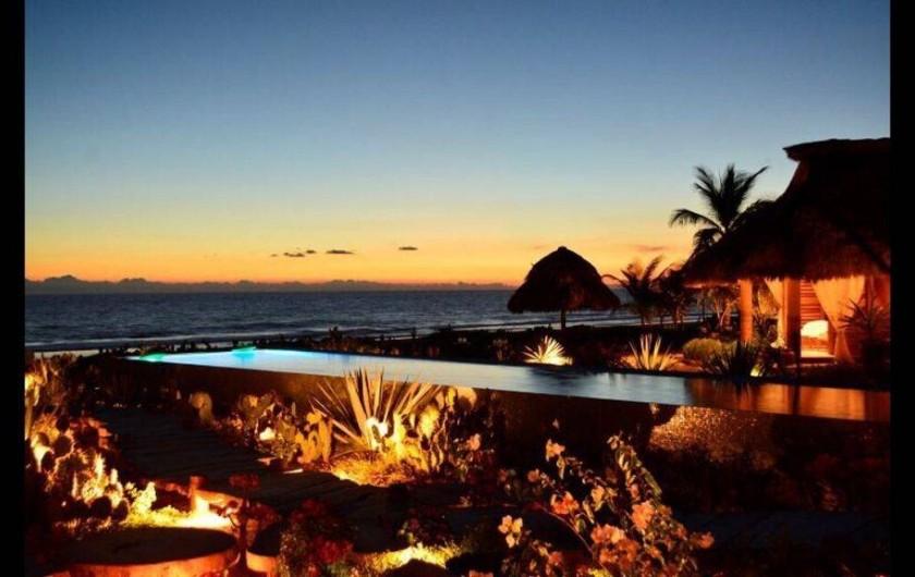 Location de vacances - Chambre d'hôtes à Puerto Escondido - Coucher de soleil