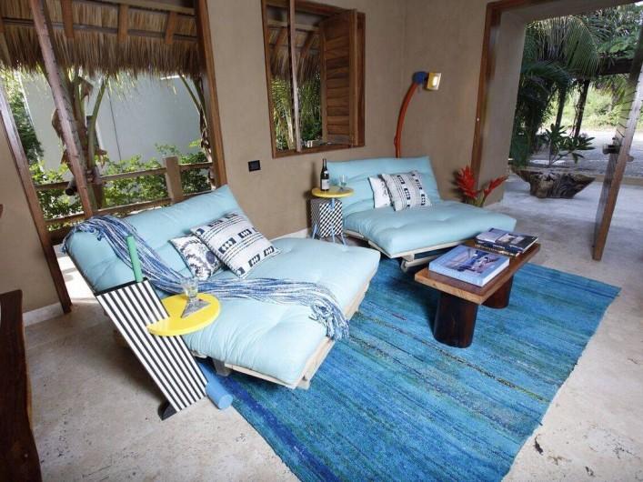 Location de vacances - Chambre d'hôtes à Puerto Escondido - Salon du petit appartement