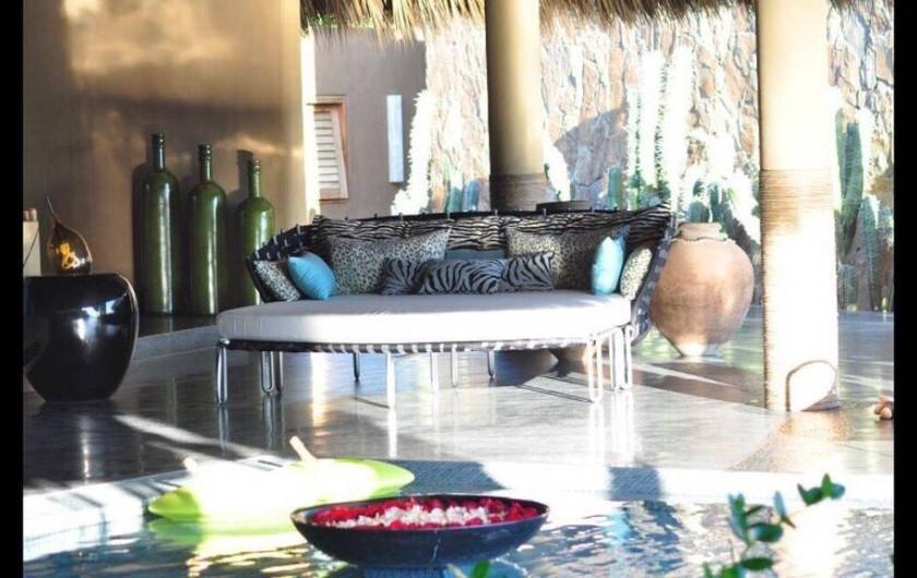 Location de vacances - Chambre d'hôtes à Puerto Escondido - Coin du Palapa principal