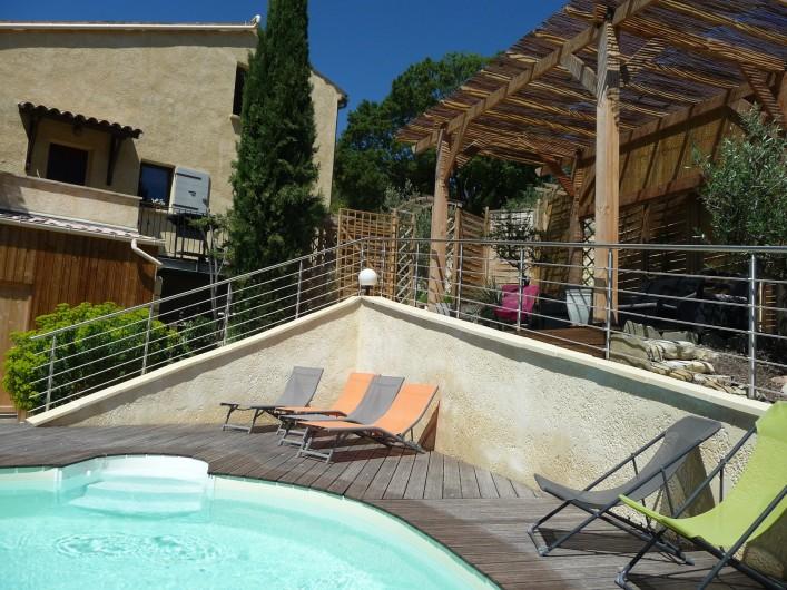 Location de vacances - Gîte à Aubres - Piscine Pergola