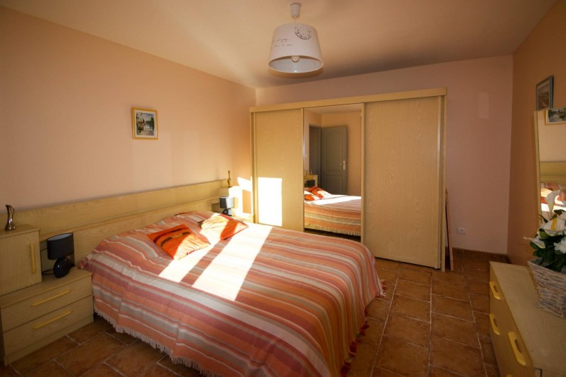 """Location de vacances - Villa à Saint-Martin-d'Ardèche - chambre lit """"classique"""" 140"""