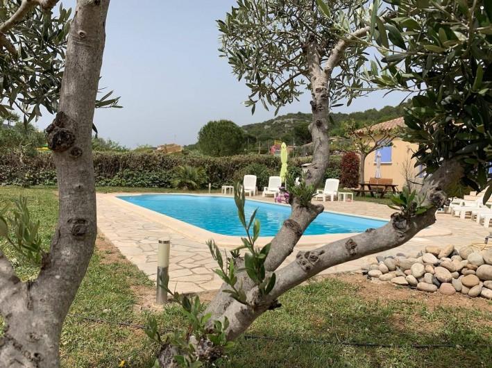 Location de vacances - Villa à Saint-Martin-d'Ardèche - vue de la piscine