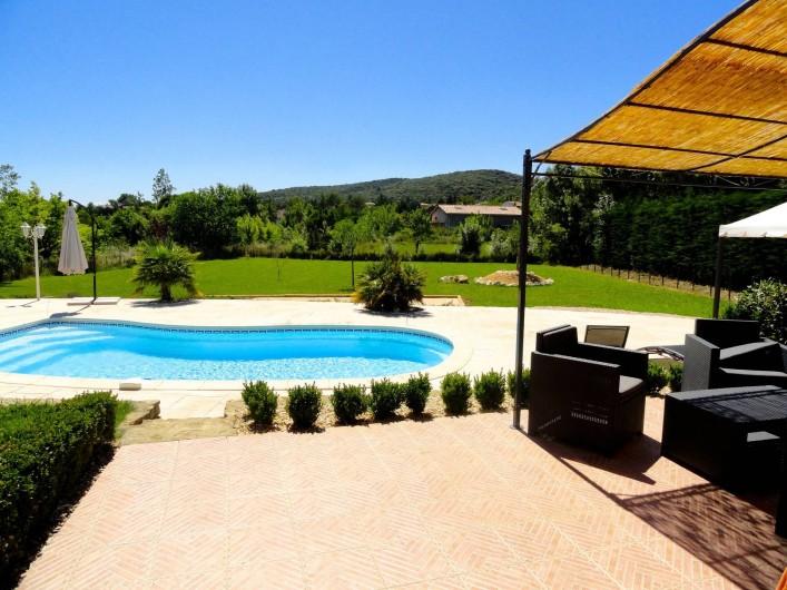Location de vacances - Villa à Rousson - Vue depuis la pièce bureau