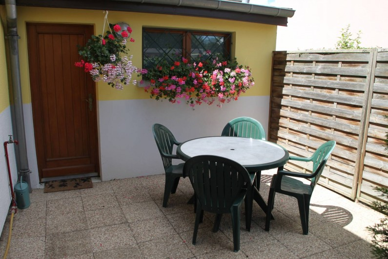Location de vacances - Appartement à Oberhergheim - jardin privatif