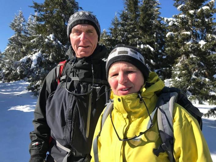 Location de vacances - Appartement à Oberhergheim - Sylvie et Jean Marc Raquettes dans les Vosges 02/2018