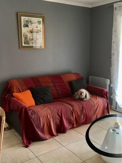 Location de vacances - Appartement à Valras-Plage - Canapé lit type Rapido couchage 140