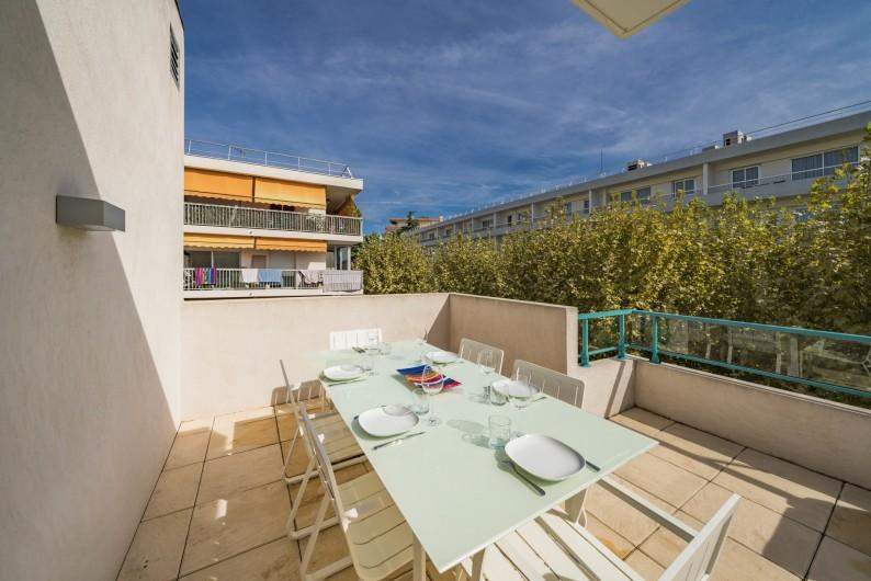 Location de vacances - Appartement à Cannes - Terrasse 48m²
