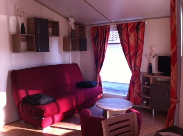 Location de vacances - Chalet à Parentis-en-Born - salon canapé convertible