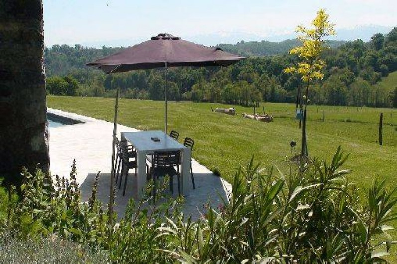 Location de vacances - Gîte à Lucq-de-Béarn - Terrasse plein sud