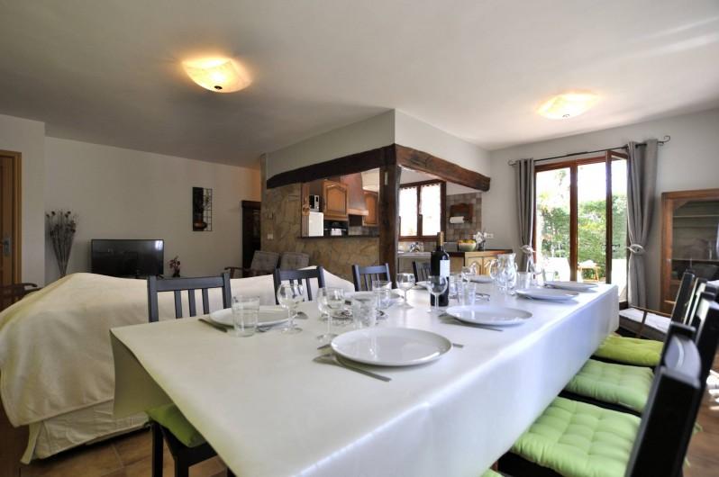 Location de vacances - Villa à Menton - Partie salle à manger