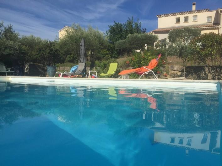 Location de vacances - Villa à Alès - Maison vue de la piscine