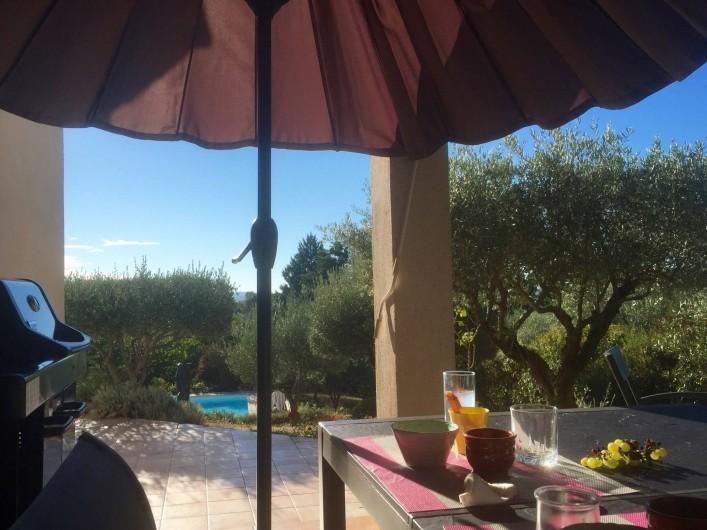 Location de vacances - Villa à Alès - Petit déjeuner au soleil levant