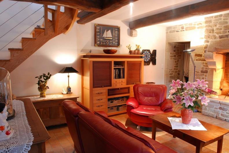 Location de vacances - Chambre d'hôtes à Quimperlé - Salle-Salon des petits déjeuners et des repas du soir