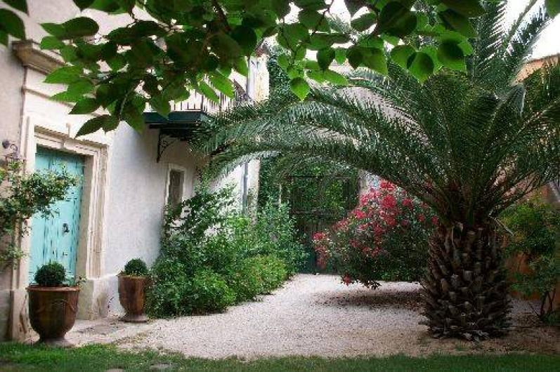 Location de vacances - Chambre d'hôtes à Fabrègues - Jardin intérieur.