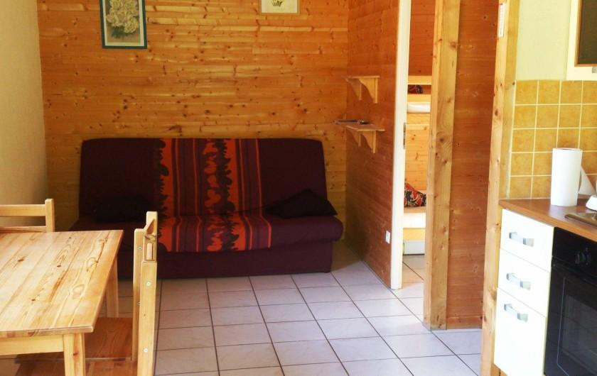 Location de vacances - Chalet à Les Deux Alpes - Les chalets de La Cascade - le salon