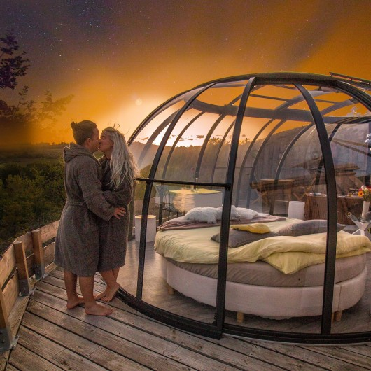 Location de vacances - Insolite à Labastide-de-Penne - coucher de soleil sur le dôme prestige