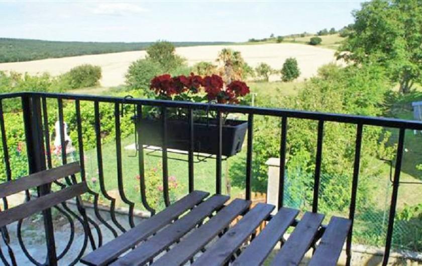 Location de vacances - Gîte à Puivert - Vue du Balcon (Gîte Balcon)