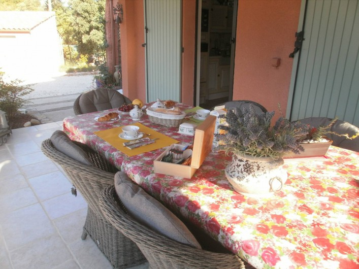 Location de vacances - Chambre d'hôtes à Carcès - Petit déjeuner