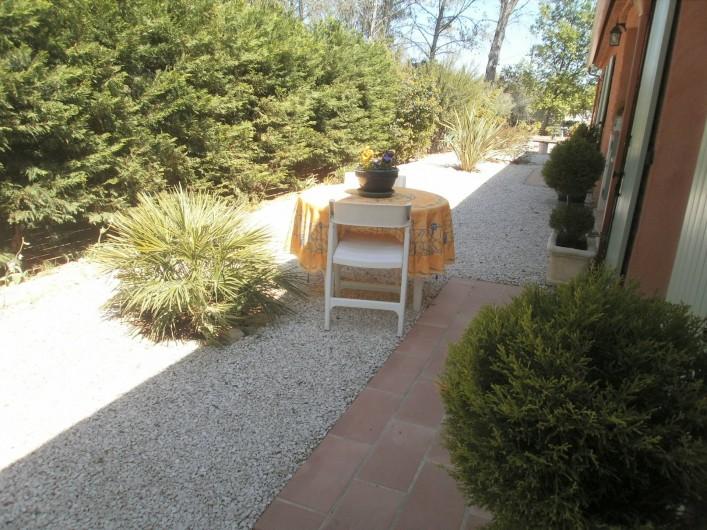 Location de vacances - Chambre d'hôtes à Carcès - La terrasse
