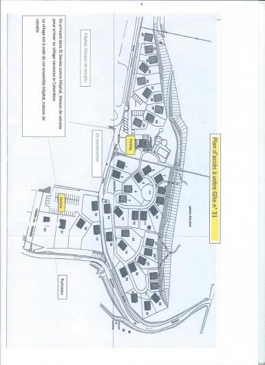 Location de vacances - Chalet à Saint-Geniez-d'Olt - Plan de situation du village vacance avec emplacement du gîte