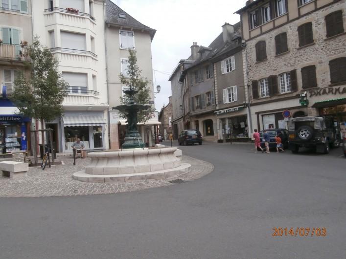 Location de vacances - Chalet à Saint-Geniez-d'Olt - Centre ville à 1/4 h à pied du gite avec boulangerie, tabac presse etc ..