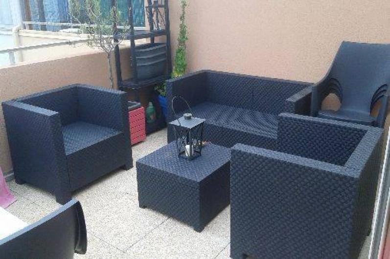 Location de vacances - Appartement à Agde - terrasse