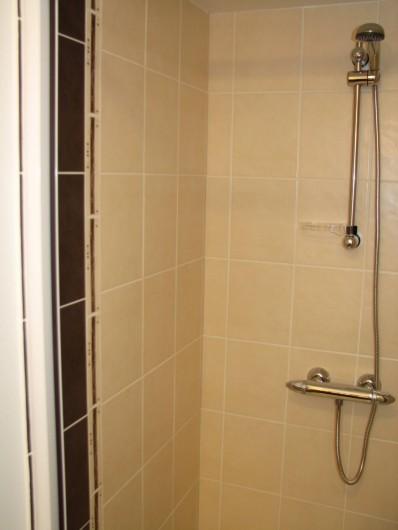Location de vacances - Gîte à Les Clouzeaux - Salle d'eau privative dans la chambre l'Afrique : douche
