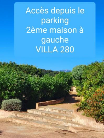 Location de vacances - Villa à Porto-Vecchio - accès villa