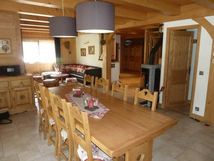 Location de vacances - Chalet à Megève - la salle à manger