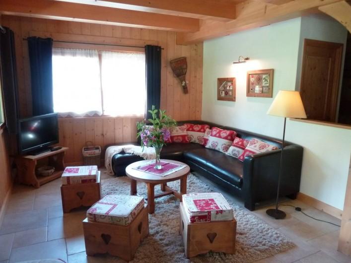 Location de vacances - Chalet à Megève - le salon,