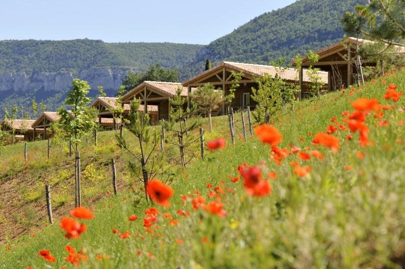Location de vacances - Bungalow - Mobilhome à Millau - Chalets du Causse (extérieur)