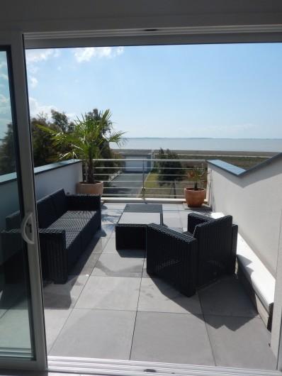 Location de vacances - Villa à Manhattan - Terrasse vue mer