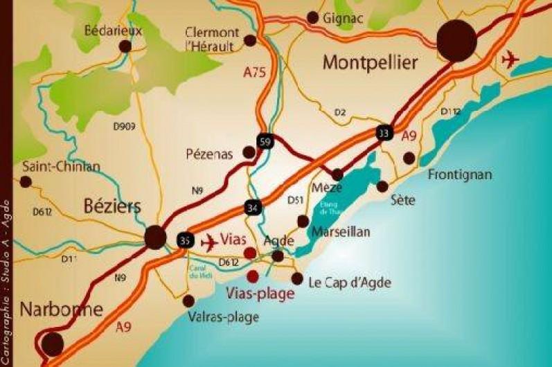 Location de vacances - Camping à Vias - Plan d'accès