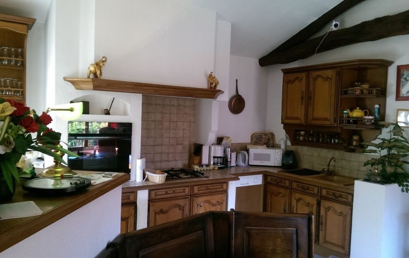 Location de vacances - Appartement à Sengouagnet - cuisine Équipée