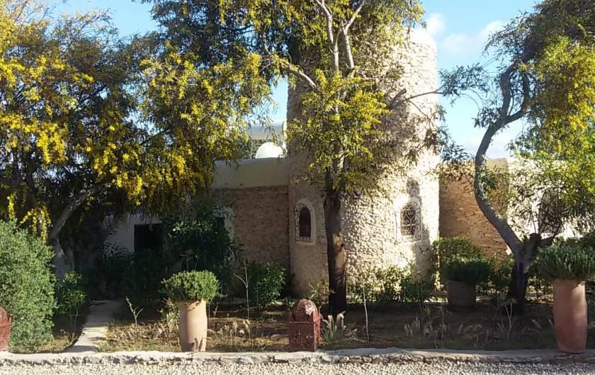 Location de vacances - Villa à Essaouira - Façade du Caroubier