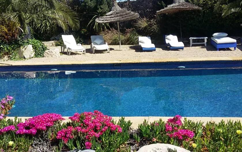 Location de vacances - Villa à Essaouira - un bord magnifiquement fleuri, l autre pour lézarder en toute intimité