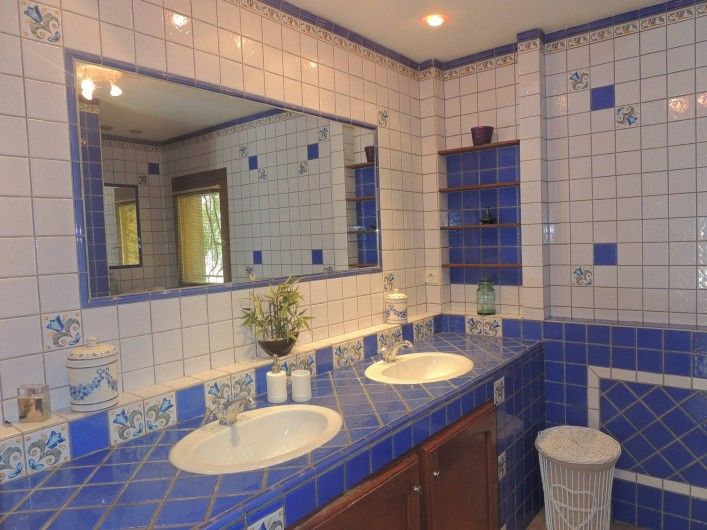 Location de vacances - Villa à Malves-en-Minervois - La deuxième salle de bain avec une douche à l'Italienne.